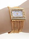 Женские Модные часы Часы-браслет Японский кварц Кварцевый сплав Группа Блестящие Элегантные часы Золотистый