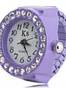Женские Модные часы Часы-кольцо Наручные часы Имитационная Четырехугольник Часы Японский Имитация Алмазный Кварцевый Plastic ГруппаЧерный