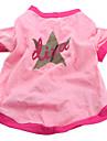 개 티셔츠 핑크 강아지 의류 여름 모든계절/가을 별 캐쥬얼/데일리