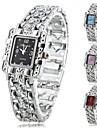 Женские Модные часы Часы-браслет Кварцевый сплав Группа Блестящие Элегантные часы Серебристый металл