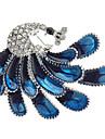 z&X® nobre broche de zircão pavão das mulheres