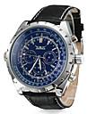 Men\'s Watch Auto-Mechanical Dress Watch Calendar Leather Band