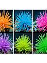 caoutchouc artificiel décoration de corail mou pour le réservoir de poissons d'aquarium (couleurs assorties)