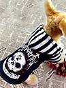 Refroidir Motif crâne Denim Manteau avec capuche Costume pour animaux de compagnie chiens (couleurs assorties, tailles)