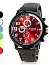 남성 스포츠 시계 석영 실리콘 밴드 블랙