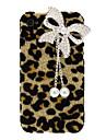 Стильный Сияющий леопардовый с отделкой из жемчуга Бабочка Стиль PC Жесткий чехол для iPhone 4/4S
