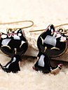 Women\'s Drop Earrings Cute Style Costume Jewelry Resin Alloy Animal Shape Cat Jewelry For Daily