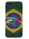 Para Capinha iPhone 5 Estampada Capinha Capa Traseira Capinha Bandeira Rigida PC iPhone SE/5s/5