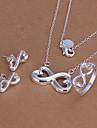 Infinite Symbols Silver Jewelry Set