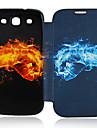 용 삼성 갤럭시 케이스 케이스 커버 플립 패턴 풀 바디 케이스 카툰 인조 가죽 용 Samsung S3