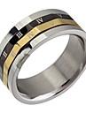(1pc) tricolores de titânio anel de fita de aço do homem clássico
