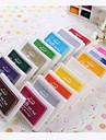 Cartoon plastica colorida del cojin de tinta (4 paquetes) (color al azar)