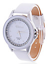 Women's Black/White Dial Analog Quartz Leather Band Water Resistant Wrist Watch