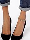 shixin® douces simples chaine femmes de forme en arete de poisson alliage d\'or aux pieds nus sandales (27cm * 2cm * 2cm) (1 pc)