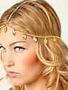 shixin® glands de feuilles europeennes bandeaux en alliage d\'or pour les femmes (1 pc)