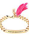Lureme®Cubic Cotton Tassel  Bracelet(Assorted Colors)