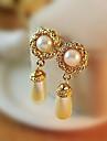 Femme Boucles d\'oreille goutte Europeen bijoux de fantaisie Imitation de perle Zircon Strass Alliage Goutte Bijoux Pour