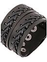 Муж. Кожаные браслеты Уникальный дизайн Мода европейский бижутерия Кожа Бижутерия Бижутерия Назначение Повседневные Новогодние подарки