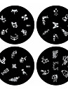 1PCS Nail Art Stamp Stamping Image Template Plate B Series NO.1-4(Assorted Pattern)