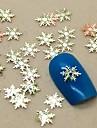 200pcs forme de flocon de neige tranche metal nail art decoration