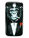 삼성 갤럭시 S4 i9500를위한 animalchimpanzee 패턴 얇은 하드 케이스 커버