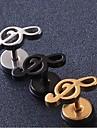 Boucles d\'oreille goujon Personnalise bijoux de fantaisie Acier au titane Bijoux Pour Mariage Soiree Quotidien Decontracte Regalos de