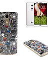 Garbage Pattern TPU Soft Case with Screen Protector Film for LG G3