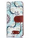 Blue Decorative Design Pattern PU Leather Case for iPhone 4/4S