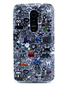 Black Caricature Pattern Soft TPU Protective Case for LG G2/D802