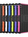 두 -에 - 하나의 타이어 곡물 디자인 PC와 소니 엑스 페리아 Z3를위한 스탠드 실리콘 케이스 (모듬 색상)