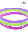 Lureme®3 pieces Friendship Colorful Sillicon Bracelet