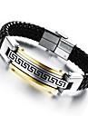 Homme Bracelets en cuir Original Mode bijoux de fantaisie Cuir Acier au titane Plaque or Bijoux Bijoux Pour Mariage Soiree Quotidien