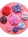 8 개의 서로 다른 패턴 크기 장미 꽃 초콜릿 케이크 금형