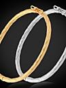 Homme Femme Bracelets Rigides Platine Plaque or Alliage Bijoux Pour Mariage Soiree Quotidien Decontracte Sports