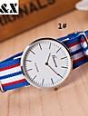 Women\'s Fashion Diamond Strip Quartz Analog Nylon Belt Wrist Watch(Assorted Colors) Cool Watches Unique Watches