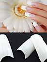 500 Professional White Korean Standards Half Well False Acrylic Nail Art Tips(50PCSx10 Sizes Mixed)