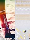 2 - Autres - Dore/Noir/Argente - Motif - 25*16cm - en Papier - Tatouages Autocollants - Gold Tattoos - Homme/Femme/Adulte/Adolescent