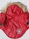 Chat / Chien Manteaux / Pulls a capuche Rouge Vetements pour Chien Hiver Motif de flocon de neige Cosplay