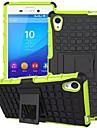 컬러 TPU를 혼합&소니 엑스 페리아 M4 아쿠아 PC 용 중장비 갑옷 스탠드 케이스 (모듬 색상)