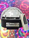 mp3 voix diamants boule de cristal lecteur mp3 voix automoteur 3w * perles de lampe 6LED six couleurs tension large