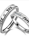 Couple\'s Couple Rings Band Rings Love Bridal Costume Jewelry Sterling Silver Crystal Rhinestone Circle Jewelry Jewelry For Wedding