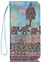 Pour Coque iPhone 6 Portefeuille Porte Carte Avec Support Clapet Motif Coque Coque Integrale Coque Elephant Dur Cuir PU pouriPhone 7 Plus