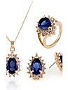 Femme Set de Bijoux Mode bijoux de fantaisie Boucles d\'oreille Collier Bague Pour Soiree Occasion speciale Anniversaire Fiancailles