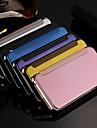 Pour iPhone X iPhone 8 iPhone 8 Plus iPhone 6 iPhone 6 Plus Etuis coque Plaque Miroir Clapet Coque Integrale Coque Couleur unie Dur