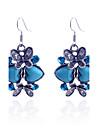 Femme Boucles d\'oreille goutte Amour Bijoux de Luxe bijoux de fantaisie Cristal Plaque argent Imitation Diamant Turquoise Forme de Coeur