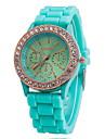 Женские Нарядные часы Модные часы Наручные часы Кварцевый силиконовый Позолоченное розовым золотом Группа Синий Красный