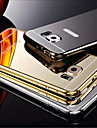 Plating Mirror Back with Metal Frame Phone Case for Galaxy S6/S6 edge/S6 edge+