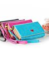 telephone portable de luxe cas portefeuille de sac a main avec porte-cartes pour Samsung Galaxy S4 / s3 iphone 5/5 ans