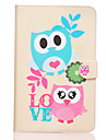 Love Owl Pattern PU Leather Full Body Case TPU With Stand for Samsung GALAXY Tab E SM-T560 SM-T561
