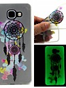 For Samsung Galaxy Case Glow in the Dark / Frosted / Translucent / Pattern Case Back Cover Case Dream Catcher TPU SamsungA7(2016) /